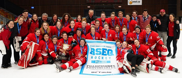 McGill sweeps Carabins to capture 15th Quebec women's hockey championship