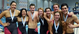 McGill relay team wins gold on Day 1 at RSEQ swim championships