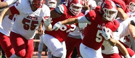Guimont-Mota rushes for 126 yards and two TDs as Redmen chop down Axemen