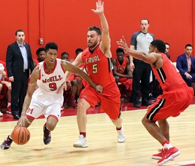 Daoust and Dele dominate, as McGill cagers reach record-setting century mark